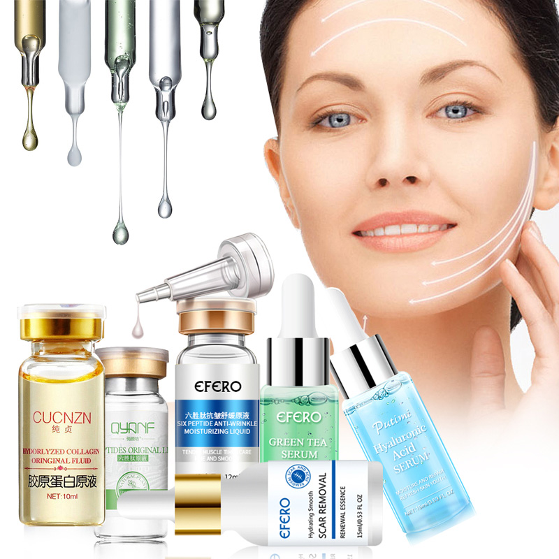 Hyaluronic Serum Six Peptides AntiAging Wrinkle Serum Whitening Cream Acne Treatment Scar Removal Essence Face Cream