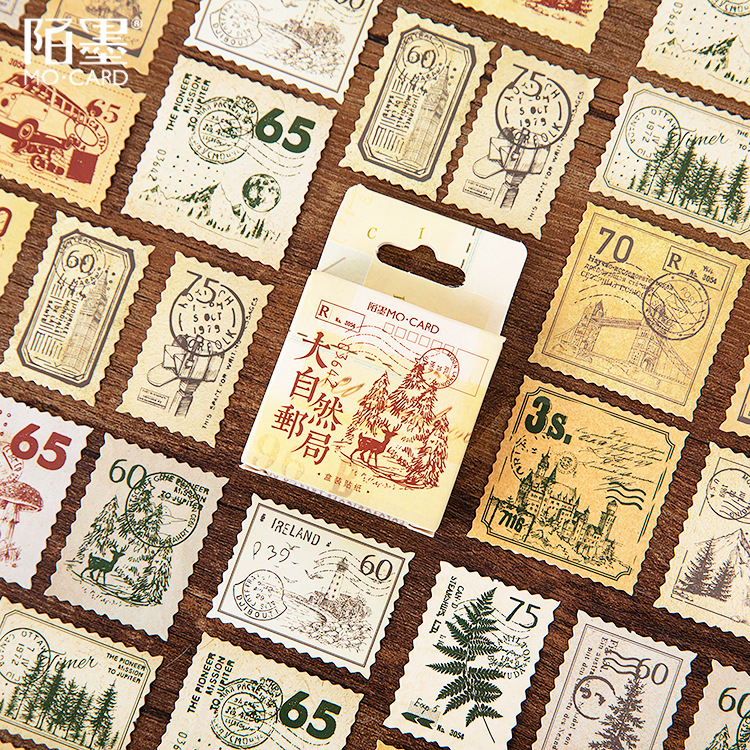 45pcs/pack Cute Forest Stamp Mini Paper Diary Label Sticker Scrapbooking Decoration Stickers