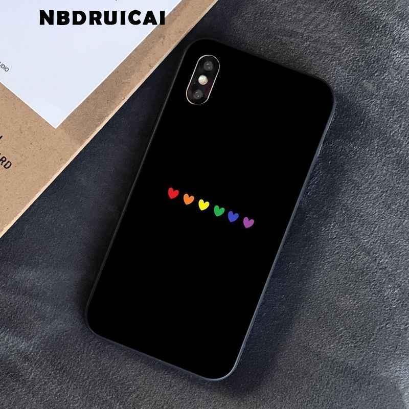 NBDRUICAI เกย์เลสเบี้ยนสายรุ้ง LGBT FLAG Rainbow Pride Festiva เคสโทรศัพท์สำหรับ iPhone11 Pro XS สูงสุด 8 7 6 6S PLUS X 5 5S SE XRcase