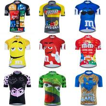 2020 Cartoon funny Cycling jersey ropa ciclismo Men Short sleeve Cycling clothing maillot outdoor bike wear jersey MTB