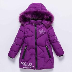 Image 1 - Детская зимняя куртка с капюшоном, с украшением в виде кролика
