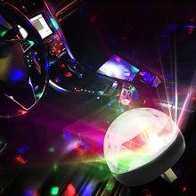 4W RGB Mini Dj USB Luz láser Auto lámpara de bola para discoteca fiesta rotación automática de KTV efecto de iluminación de escenario Karaoke 1 Uds