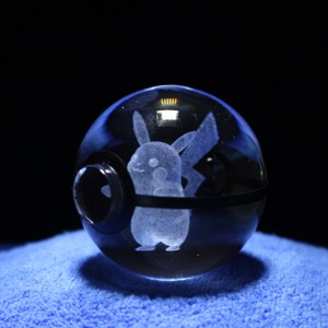 Image 4 - Hot Selling 2 Inch 50mm Crystal Glass Pokeball Creative Christmas Gifts For Kids
