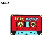 Xedz симпатичная эмалированная лента для cd музыки ювелирное