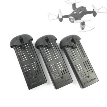Original 3,7 V 400mAh Lipo batería de litio negro para SYMA X22 X22W RC Drone accesorios 3 uds