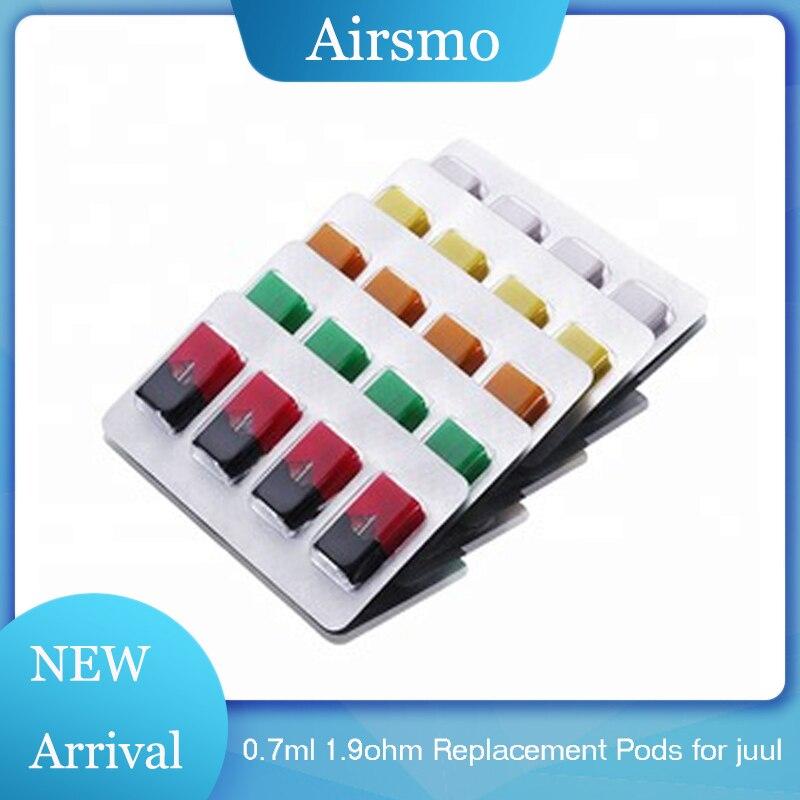40pc E Cigarette Pod Vape Pen Cartridge For JUUL/ JC01/JUU1/Jull Cbd Starter Kit 1.0ml 1.9ohm Disposable Replacement Juu1 Pods