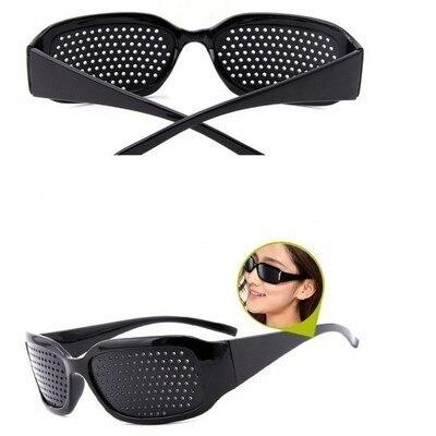 Preto melhoria da visão exercício de cuidados óculos treinamento ciclismo eyewear pino pequeno buraco óculos de sol acampamento 6