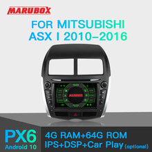 MARUBOX PX6 עבור מיצובישי ASX 2010 2012 רכב נגן מולטימדיה אנדרואיד 10 GPS רכב רדיו אודיו אוטומטי 8 ליבות 64G, IPS, DSP KD8095