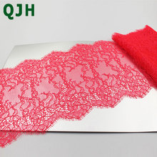 3 Meter 16cm Wide Mint Green Eyelash Lace Trim Fabric Flower DIY Crafts Wedding Dress Clothing Lngeire lace material Handmade