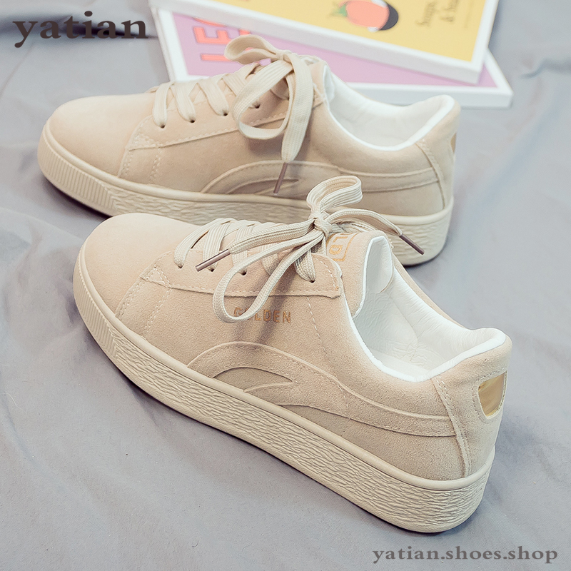 2019 Solid Beige Black Canvas Shoes Women Spring Lace Up Ladies Vulcanize Shoes Breathable Traveling Women Sneakers A064Womens Vulcanize Shoes   -