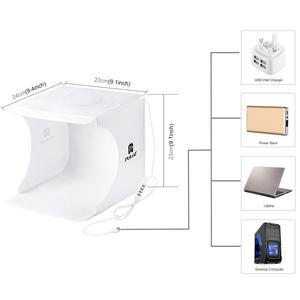 Image 4 - Лайтбокс для фотосъемки PULUZ с регулируемым кольцом и светодиодной панелью, светильник тбокс для фотостудии, тент для фотосъемки, набор с 6 цветными фонами