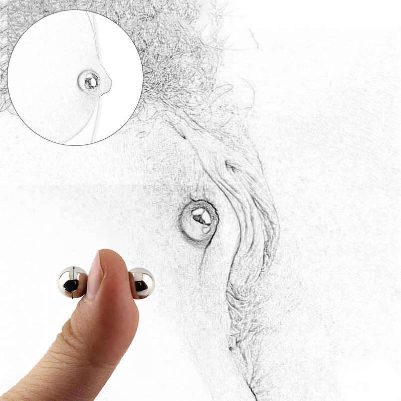 Magnetic Force Nipple Labia Clamps 10mm Powerful Magic Ball Orbs Clitoris Clip BDSM Sex Toys For Women Adult Erotic Sex Game