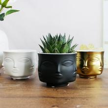 Creative Flower Pot Multifunctional Face Design Ceramic Planter Indoor For Home Decoration And Planting New Arrival