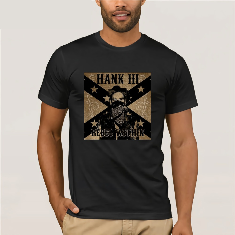 Printed Mens Men T Shirt Hank Williams Iii Rebel Within Men's Short Sleeve Crew Neck T-shirt