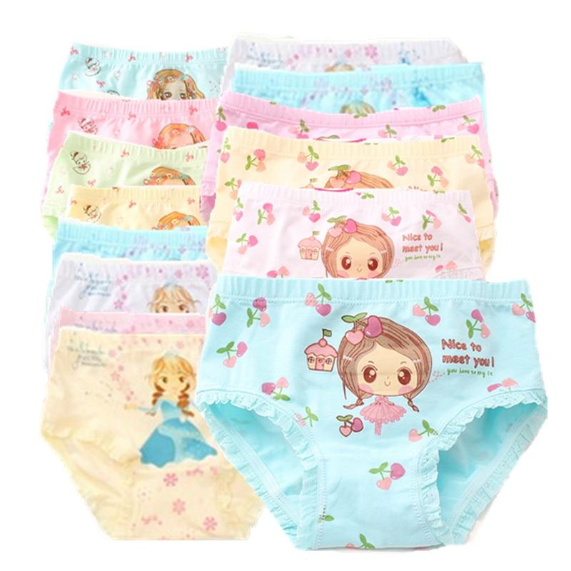 12PCS/Lot Girl Cotton  Panties Girls' Briefs Soft Panties for Girls Kids Underwear 2-12 Years Kids Girl's Boxer Shorts 1