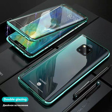 Case for iphone 8 Magnetic Adsorption Metal Case For iphone x xs xr xsmax Double tempered glass Cover For iphone6 6S 7 8 7/8plus цена и фото