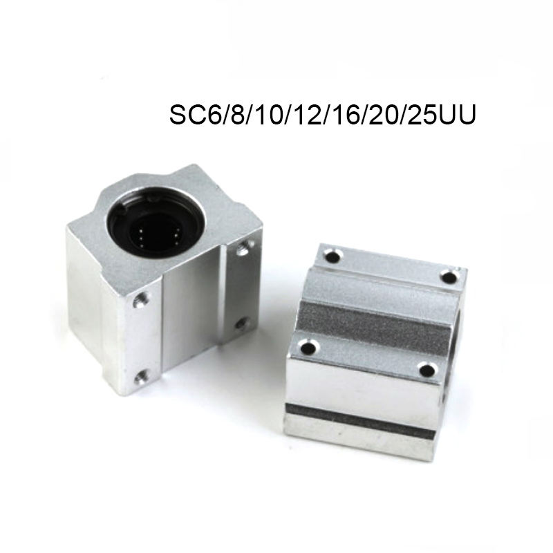 1-<font><b>4pcs</b></font> SC6UU <font><b>SC8UU</b></font> SC10UU SC12UU SC16UU SC20UU SC25UU SC30 Linear Motion Slide Block for Linear Shaft CNC Parts 3d Printer Parts image