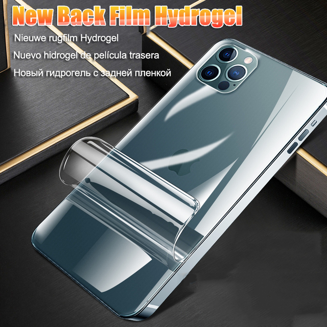 Full Cover Hydrogel Film For iPhone 11 12 Pro Max mini XR X XS Screen Protector For iPhone 6 6s 7 8 Plus SE 2020 Film Not Glass 4