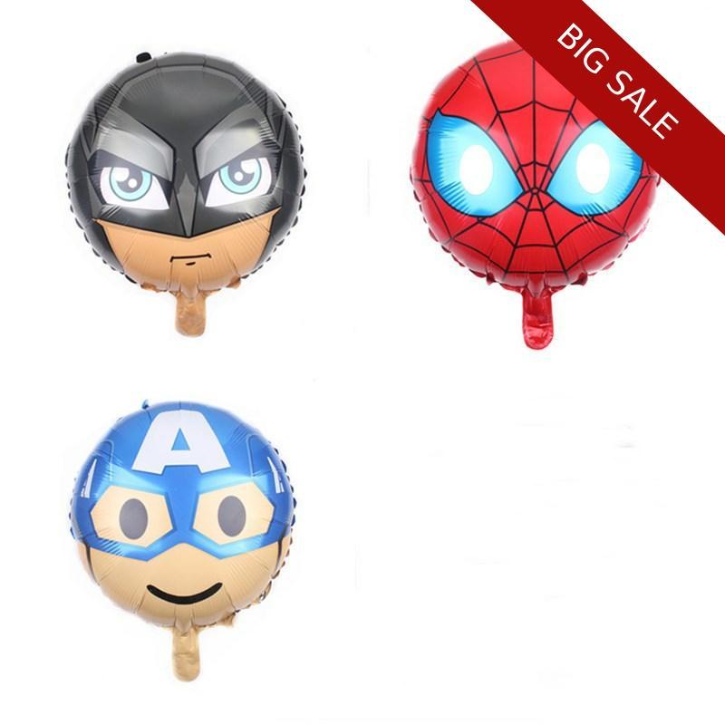 Birthday Balloons 1pc 24inch Avengers Foil Superhero Spiderman Batman Balony Birthday Party Decorations Kids DIY Party Supplies