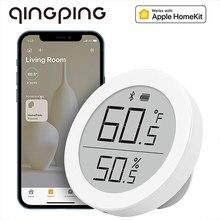 Qingping bluetooth termômetro h versão para apple homekit de alta precisão interna casa eletrônico sensor siri