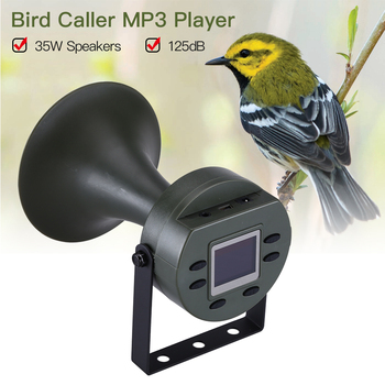 Hunting Bird Caller MP3 Player Outdoor Birds Sound Decoy 35W Speakers 125DB with LCD Display Tactical Hunting Accessories CP-395
