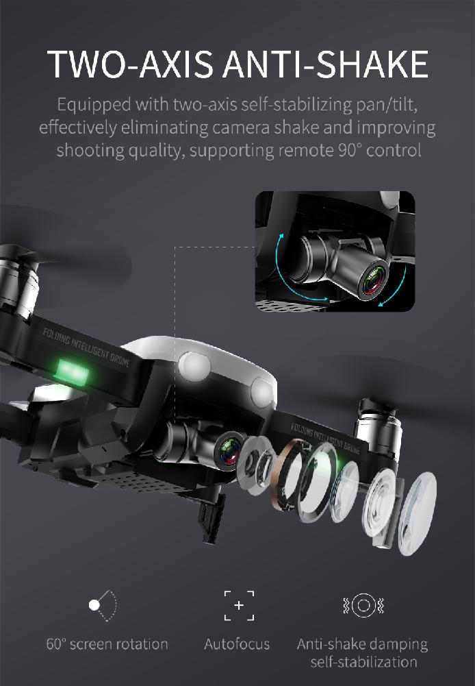 F8 Profissional FPV Vision 4K HD Camera Drone with Two-Axis Anti-Shake and GPS 18