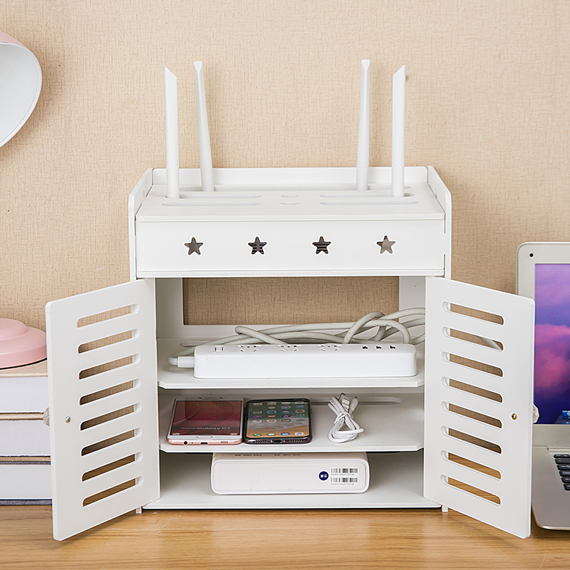 Decoration Router Europe Shielding WIFI Living Room Cabinet Socket Cover Shelf Stacks Storage Rack TV Set-top Box