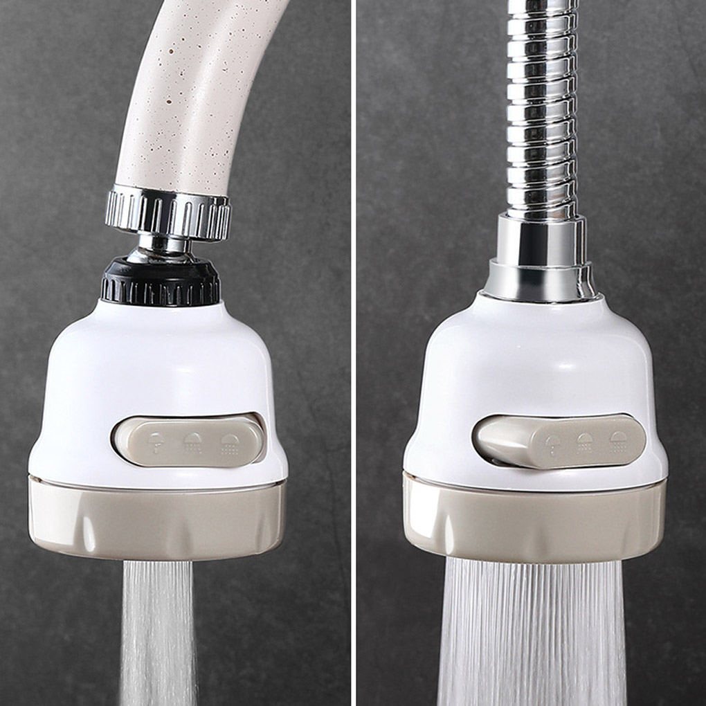 3 Modes Aerator Faucet Water Saving Filter High Pressure Spray Nozzle 360 Degree Rotate Flexible Aerator Diffuser
