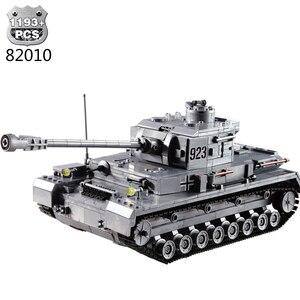 Image 2 - 1193 adet askeri serisi büyük Panzer tankı yapı taşları ordu şehir Enlighten tuğla oyuncaklar çocuklar için uyumlu Tank ile