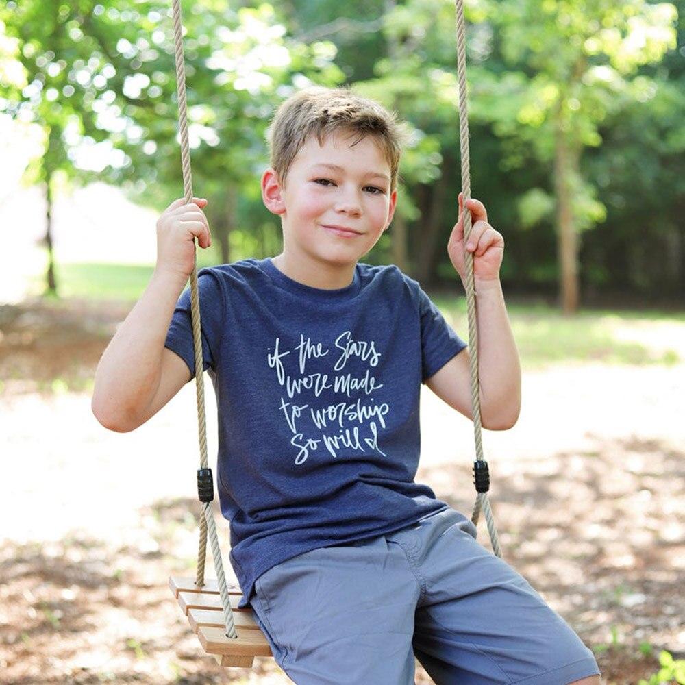 If The Stars Were Made To Worship Kids Shirt Kid's Christian T-Shirt Faith Shirts Kids Christian Tee Kid's Christian T Shirts