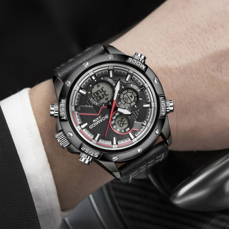 BOAMIGO Fashion Mens Watches men Military Digital analog Quartz Chronograph sport Watch Waterproof wristwatch relogio masculino
