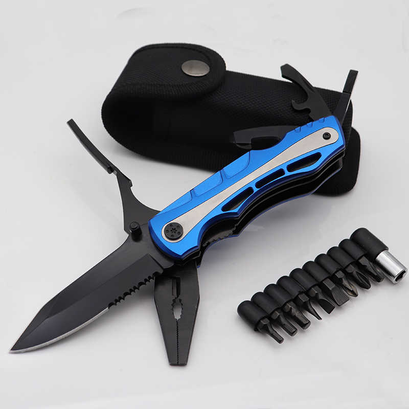 Folding Pliers Multitool Knife Pocket EDC Camping Outdoor Survival Hunting Screwdriver Set Camping Tool Multi Plier Hand Tools