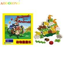 Животные на доске игра-головоломка игрушка деревянный стол настольная игра для семьи друзей детей раннего образования головоломки игрушки