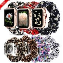 Scrunchie Elastische Uhr Straps Armband für Apple Uhr Band Serie 6 5 4 3 38mm 40mm 42mm 44mm für iwatch Armband armband 6 5 4
