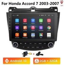 """10.1 """"Android 10.0 Wifi 4G nawigacja samochodowa GPS wieża Stereo dla Honda Accord 2003 2007 + kamera HD mapa lustro Link DTV SWC DVR Bluetooth USB OBD2"""