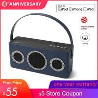GGMM M4 Wireless WiFi Speaker Bluetooth Speaker MFi Certificated Portable HiFi Lossless Heavy Bass Sound for iOS Android Windows