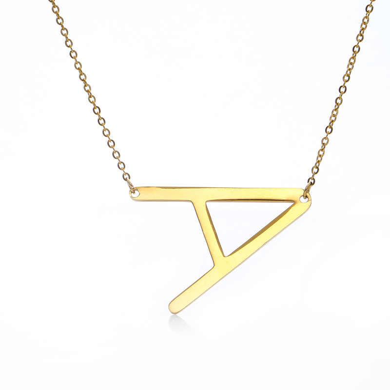 Offre spéciale 26 A à Z lettres pendentif collier couleur or nom Inital femmes hommes Couple collier femmes chaîne bijoux