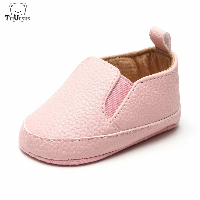 Wholesale Baby Shoes For Boys Girls Anti-Slip Sole Newborn Infant Toddler Baby First Walkers PU Leather Christening Prewalker