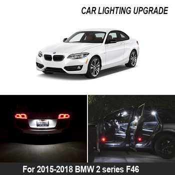 For 2015-2018 bmw 2 series F46 gran tourer White car accessories 12x Canbus Error Free LED Interior Light Reading Light Kit Map image