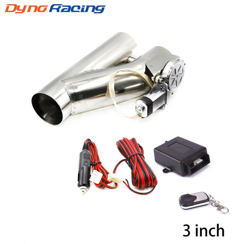 3 inch 76mm exhaust control valve exhaust pipe electric y pipe electrical exhaust cutout kit with hand wire wholesale