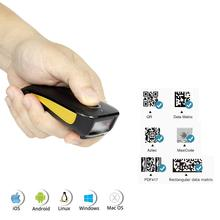 NETUM C750 Bluetooth 2D Barcode Scanner Pocket Wireless QR Reader Data Matrix PDF417 IOS Android Windows