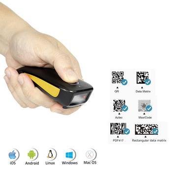 NETUM C750 Bluetooth 2D Barcode Scanner Pocket Wireless QR Reader Data Matrix PDF417 IOS Android Windows netum c750 bluetooth 2d barcode scanner pocket wireless qr reader data matrix pdf417 ios android windows