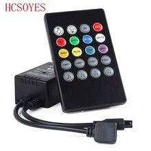 20 مفتاح الموسيقى IR تحكم أسود مستشعر صوت بعيد ل RGB LED قطاع 12 فولت 24 فولت ل RGB 5050 3528 شريط ليد smd