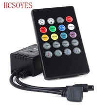 20 키 음악 IR 컨트롤러 블랙 사운드 센서 RGB LED 스트립에 대 한 원격 RGB 5050 3528 smd LED 스트립에 대 한 12V 24V