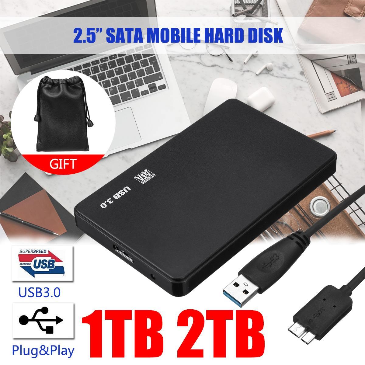 2.5 Mobile Hard Disk USB3.0 SATA3.0 1TB 2TB HDD Disco Duro Externo  External Hard Drives For Laptop/Mac/Xb