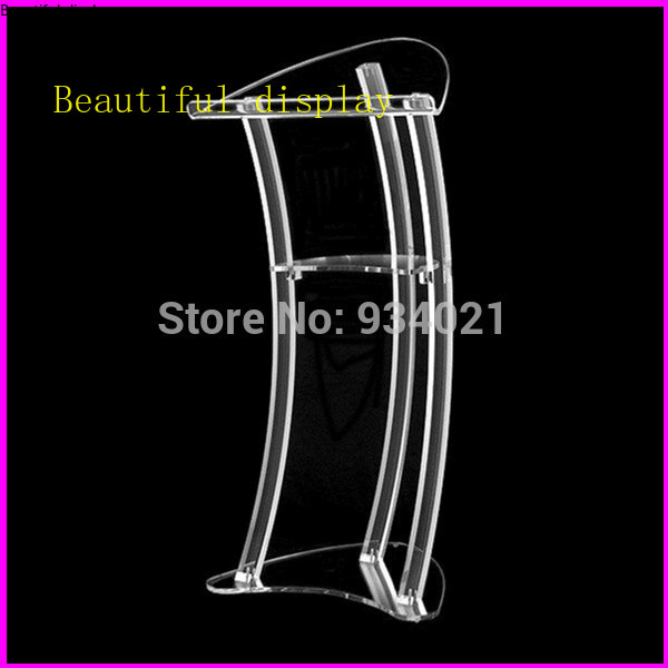 Free Shipping Acrylic Podium, Church Pulpit And Podium, Acrylic Pulpit Furniture Plexiglass