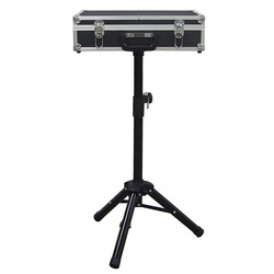 Magician Carrying Case Magic Table Tricks Gimmick Magician Suitcase with Aluminum Tripod Magic Props - Black