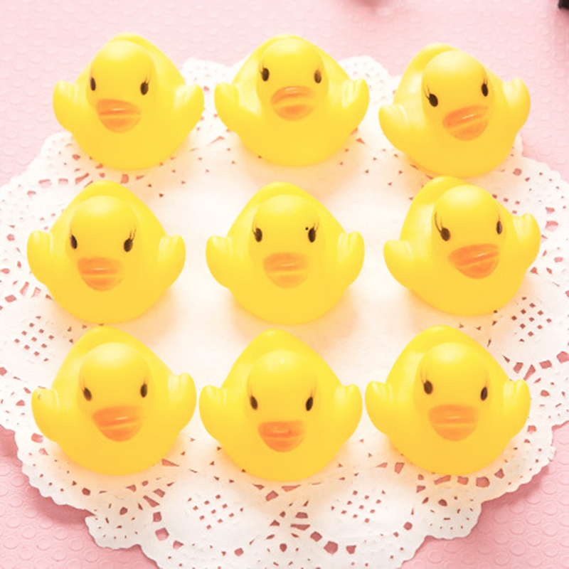 2pc/10pc Funny Baby Bath Toys Animals Cute Soft Little Yellow Duck Kids Interactive Decompression Shower Swimming Water Toys