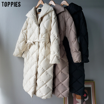 Toppies Winter Coat Women Parkas Thicker Warm Plaid Bubble Coat Korean Puffer jacket fashion outwear