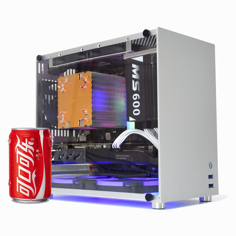 METALFISH S5 Aluminum Computer Case Gaming PC Chassis For MicroATX/itx 24.5*24.5CM Mainboard/SFX Power/135mm Radiator Mid Tower